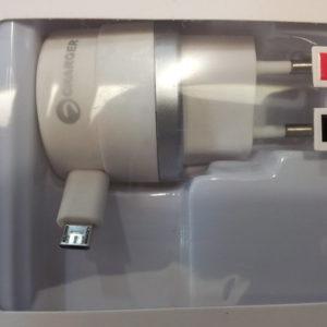 """CARICATORE tipo """"SAMSUNG"""" cavo retraibile USB MICRO B-0"""