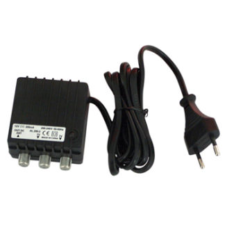 Alimentatore per amplificatore d'antenna 12V 200mA 2 out -0