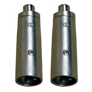 CA 8234 Coppia adattatori audio XLR Maschio e RCA Femmina.-0