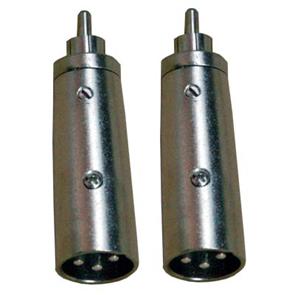 CA 8235 Coppia adattatori audio XLR e RCA Maschio.-0
