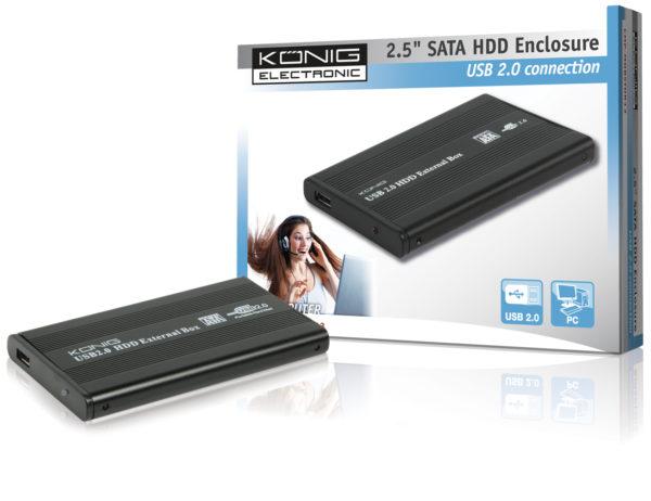 """Contenitore USB 2.0 per HDD S-ATA 2.5""""-0"""