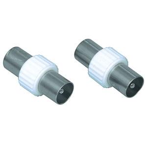 Accoppiatore coassiale cavi antenna maschio-maschio-0