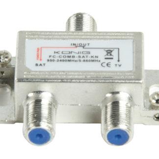 CONFEZIONE 3 Miscelatore accoppiatore satellite digitale SAT/UHF/VHF König-0