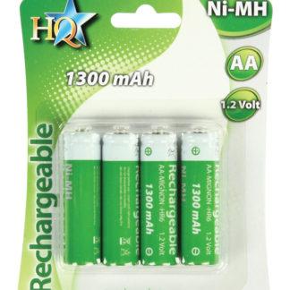 Batterie NiMH AA/LR6 1.2 V 1300 mAh BLISTER 4 BATTERIE STILO-0