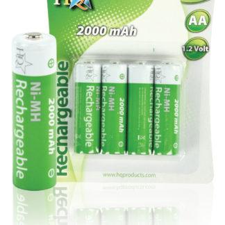 Batterie NiMH AA/LR6 1.2 V 2000 mAh 4-blister - HQ-0