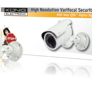 Telecamera di sicurezza König con lenti varifocali-0