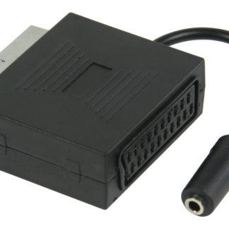 Adattatore SCART con audio stereo con SCART maschio - jack stereo femmina da 3,5 mm da 0,20 m nero-0