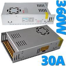 ALIMENTATORE 220V 12V 30A 30 Ampere PER LED STRISCIA LED o TELECAMERA-0