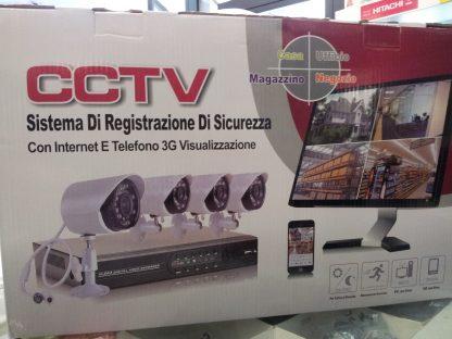 KIT VIDEOSORVEGLIANZA 8 TELECAMERE + REGISTRATORE DVR-0