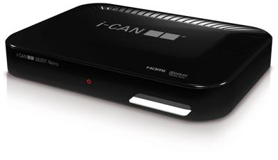 Decoder ICAN 3820T HD Alta Definizione per Mediaset Premium Play e Infinity TV NERO-0