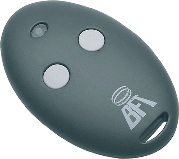 Radiocomando apricancello TX 2 TASTI 433MHZ AUTO-LEARN R.CODE BFT MITTO 2 / D111750 -0