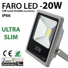 Faro Faretto LED 20 W Luce FREDDA FARO IP66 LED Ultra Slim Qualità 1800 Lumen CW-0