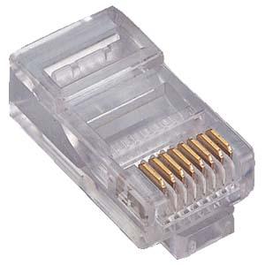 CONFEZIONE 6 PEZZI Modular plugs RJ45 connettore spina telefonica modulare-0
