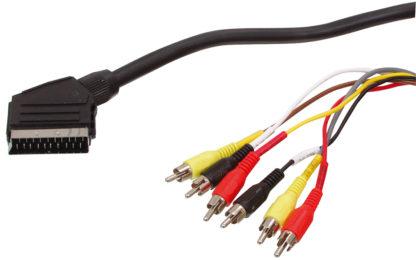 SCART 21 PIN (M) - 6 PHONO (M) CAVO ADATTATORE DA SCART A RCA-0