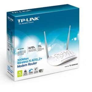 Modem Router ADSL2+ Wireless N 300Mbps TD-W8961ND-0