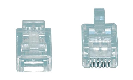 CONFEZIONE 20 PEZZI Modular plugs RJ12 connettore spina telefonica modulare-0