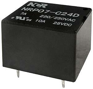 Relè subminiatura NRP-07 1 contatto di scambio 24V, 12A-0