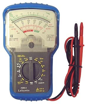 Lafayette AMB-5 Multimetro analogico con 6 funzioni, 16 portate, prova batterie e misura decibel-0