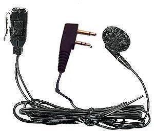 Microfono/auricolare con molletta per bordi per Kenwood EM-190K 05800380-0