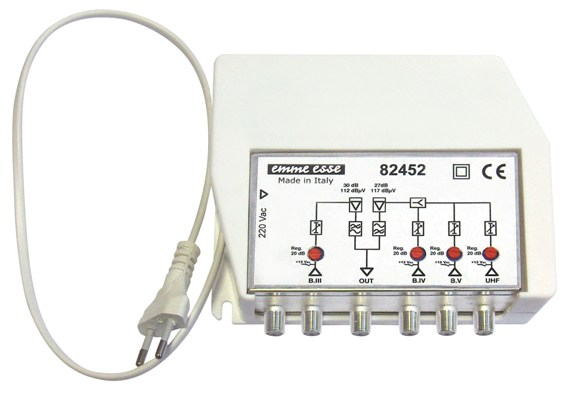 Centralno larga banda Emme Esse 82452L 3 ingressi B.III-UHF-UHF-0