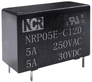 Relè ultraminiaturizzato NRP-05E 1 scambio, 12V, 5A-0