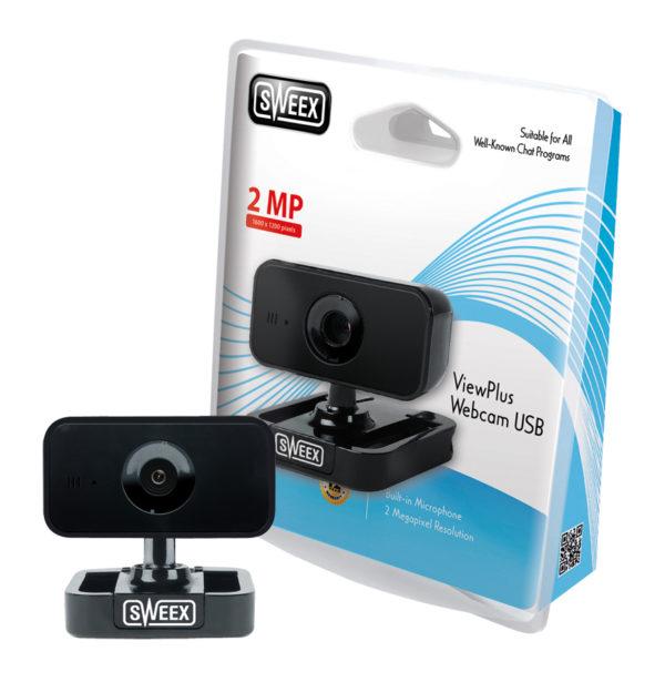 Webcam USB ViewPlus nera di Sweex-0