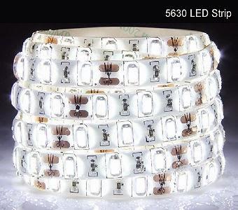 striscia led 5050 12v watherprof bobina 5 mt bianco ghiaccio 60led/m-0
