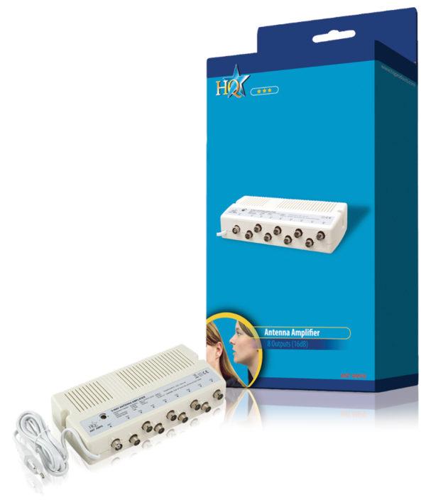 ANT AMP8 Antenna amplificatore a 8 vie HQ da 16 dB-0