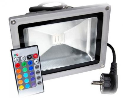 Faretto LED con telecomando 30W 2400LM RGB (95-265V) -0