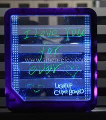 LAVAGNA TRASPARENTE C/LUCE LED-0