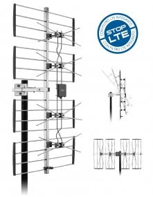 Antenna UHF 470-790MHz 4 elementi DAT 920 LTE-0