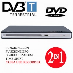 LETTORE DVD/MPEG4 DVB-T USB/REC AUDIOLA DVX2264 BLACK-0