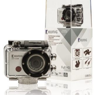 Action Camera Full HD da 1080p con rivestimento impermeabile e Wi-Fi-0