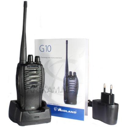 Ricetrasmettitore palmare UHF PMR LPD PMR446 MIDLAND G10 VERSIONE 5 WATT PER SOFTAIR CACCIA CANTIERI 8+8 CANALI-0