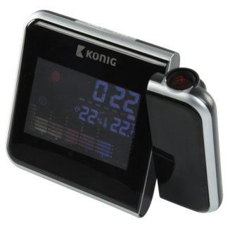 Orologio a proiezione LCD con previsioni meteo-0
