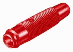 Presa volante per spina a banana da 4 mm Tipo KUN 30, 48 mm, colore rosso ROHS-0