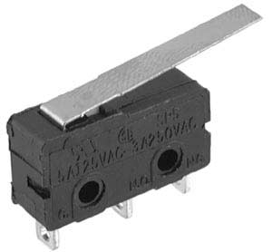 Microswitch subminiatura a levetta 5A - 125V (3A - 250V) RoHS-0