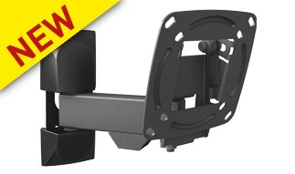 "Supporto TV LED/ LCD WALL MOUNT 3 MOVEMENT - ROTATE, SWIVEL & TILT. FITS UP TO 26""/ 66 CM-0"