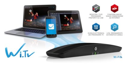 Trasforma iPhone e iPad, PC Windows e Mac Os, tablet e smartphone Android in TV PVR Wi.TV-0