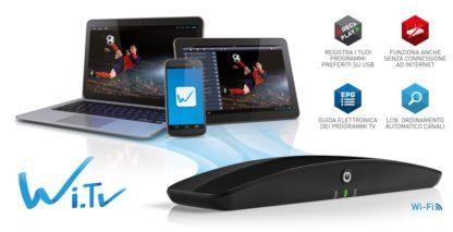 Trasforma iPhone e iPad, PC Windows e Mac Os, tablet e smartphone Android in TV PVR Wi.TV-0