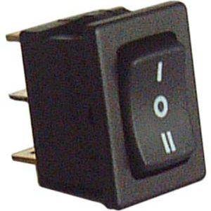 Commutatore a bilanciere nero I-O-II 10A - 250V-0