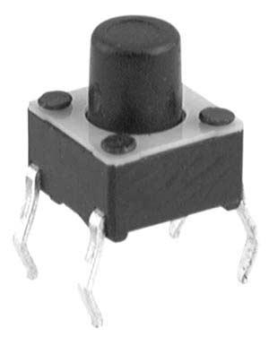 Micro pulsante miniaturizzato - Tact switch con alberino 9.5 mm, 50mA - 12V-0