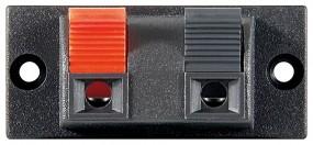 Connessione degli altoparlanti, 2 poli, basetta per morsettiera-0
