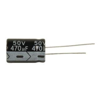 Ra.electr. capac. 470uf 50 V 105°-0