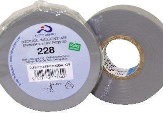 NASTRO ISOLANTE PVC GRIGIO - MISURA 0,19mm x 25mm x 20mt NITTO 228-25-GR-0