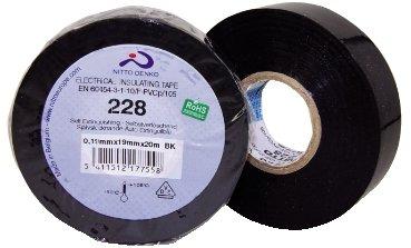 NASTRO ISOLANTE PVC NERO - MISURA 0,19mm x 25mm x 20mt NITTO 228-25-NE-0