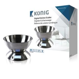 Bilancia da cucina digitale con ciotola in acciaio inossidabile-0