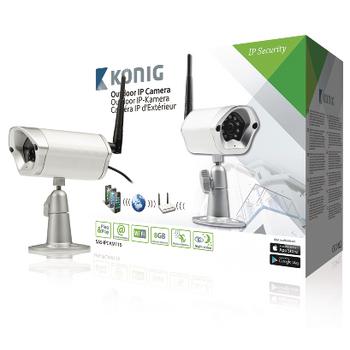 Telecamera IP colore argento per esterni per la videosorveglianza a distanza-0