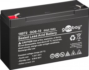 Goobay GO6-10 10000 mAh Piombo Batteria, 6 V, Faston (4.8mm)-0