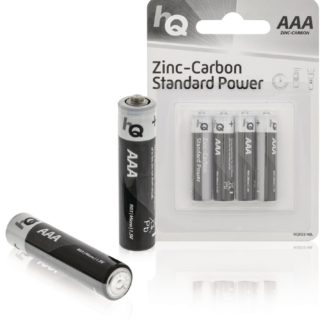 Batterie AAA allo zinco-carbone - Blister da 4-0